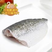 【那魯灣】台灣嚴選特大金目鱸魚片2片(500g/片)